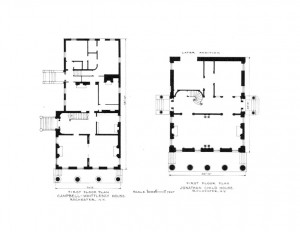 Campbell-whittlesey house floor plan for the first floor.