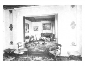 Interior room of Campbell-Whittlesey house featuring ornaments, decorations, and an interior cornice.