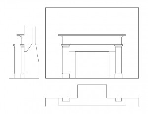 PARLOR MANTLE MOULDING of the campbell-whittlesey house featuring fireplace mouldings.
