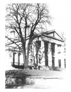 Hervey Ely house features large columns, cornice mouldings, and window mouldings.