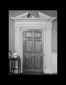 Georgian style door with mouldings.