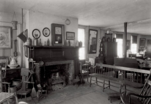 Interior of Columbian House showcasing fireplace mantel featuring mantel mouldings, and mantel panel molds.