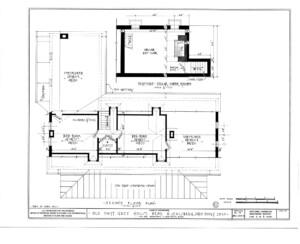 Blueprint of Matt Gray House second floor plan.