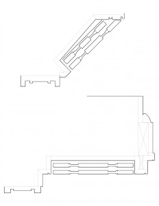 A couple of line art sketches of curtis devin house moulding profiles.