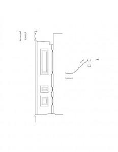 Line art of door panel mold profiles for the Dirlam Allen House along with other door moulding profiles.