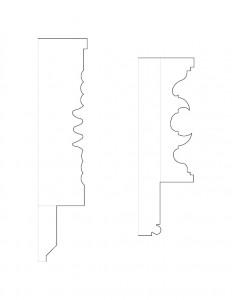 Drawing of John Mathews House moulding profiles.