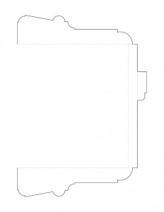 Line art of single Moore Brewster House moulding profile.