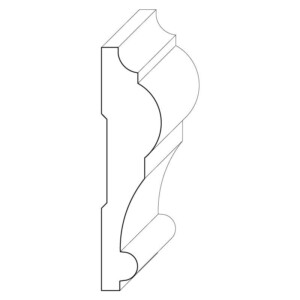 Wood chair rail moulding measuring 15/16 inches by 3 and 3/4 inches